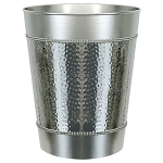 NuSteel Hudson Mirror & Hammered 9 Qt. Wastebasket 2 Per Case Price Per Each