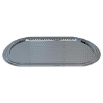 NuSteel Hudson Mirror & Hammered Amenity Tray 24 Per Case Price Per Each
