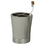 NuSteel Special Pewter Finish Toothbrush Holder 24 Per Case Price Per Each