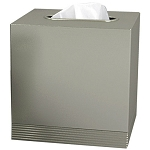 NuSteel Special Pewter Finish Boutique Tissue Box Cover 12 Per Case Price Per Each