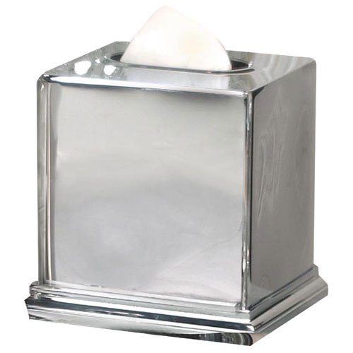 Nusteel Timeless Chrome Finish Boutique Tissue Box Cover 12 Per
