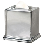 NuSteel Timeless Chrome Finish Boutique Tissue Box Cover 12 Per Case Price Per Each
