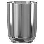 NuSteel Chic 18/8 Stainless 7 Qt. Wastebasket 6 Per Case Price Per Each