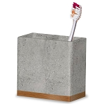 NuSteel Concrete Stone Finish w/ Wooden Trim Toothbrush Holder 12 Per Case Price Per Each