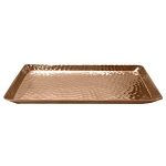 Hammered Copper Finish Trays & Bins