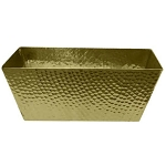 Hammered Gold Finish Trays & Bins