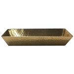 Hammered Rose Gold Finish Trays & Bins