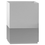 NuSteel Pure White Resin w/ Metal Trim Wastebasket 3 Per Case Price Per Each