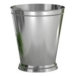 NuSteel Regal Crackle Glass w/ Chrome Trim 9 Qt. Wastebasket 6 Per Case Price Per Each