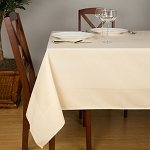 Satin Band Beauti-Damask Cotton Blend Square Tablecloths