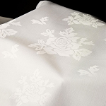 Allover Rose Beauti-Damask Cotton Blend Square Tablecloths