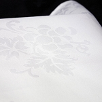Allover Grape Beauti-Damask Cotton Blend Square Tablecloths