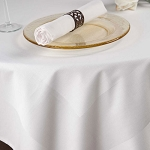 Parnell 100% Cotton Satin Band Rectangle Tablecloths