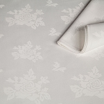 Premier Damask Rose Pattern Square Tablecloths