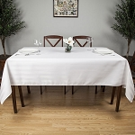 Premier Satin Stripe 100% Polyester Square Tablecloths