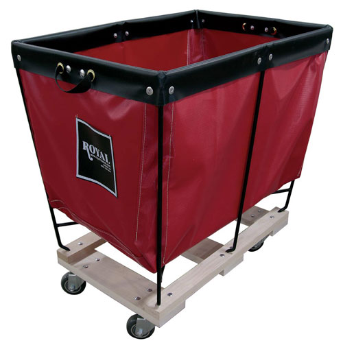 Royal Basket 6 Bushel Vinyl Elevated Basket Trucks W Wood