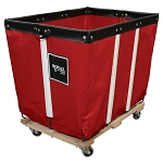 Royal Basket 4 Bushel Vinyl Permanent Liner Basket Trucks w/ Wood Base