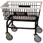 Royal Basket Large Basket Wire Laundry Cart w/ No Hanger