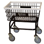 Royal Basket Small Basket Wire Laundry Cart w/ No Hanger