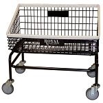Royal Basket Tapered Front Basket Wire Laundry Cart w/ No Hanger