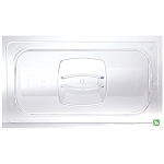 Rubbermaid Commercial 121P23CLE Cold Food Pan Cover w/ Peg Hole 1/3 Size 6 Per Case Price Per Each