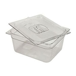 Rubbermaid Commercial 125PCLE Cold Food Pan 1/2 Size 9 1/3 Qt. Capacity 6