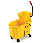 Rubbermaid Commercial 618688YW 44 Qt. Wavebrake® Side Press Combo Mopping System Yellow