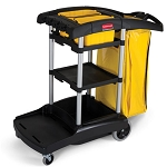 Rubbermaid Commercial 9T7200BK High-Capacity Cleaning Cart