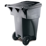 Rubbermaid Commercial 9W22GY 95 Gallon Brute® Rollout Container Gray