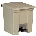 Rubbermaid Commercial 6143BEI 8 Gallon Step-On Container Beige
