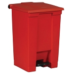 Rubbermaid Commercial 6144RED 12 Gallon Step-On Container Red