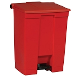 Rubbermaid Commercial 614500RED 18 Gallon Step-On Container Red