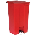Rubbermaid Commercial 6146RED 23 Gallon Mobile Step-On Container Red