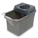 Rubbermaid Commercial 6194STL 5 Qt. Pail & Mop Strainer Combination Gray