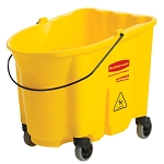Rubbermaid Commercial 757088YEL 35 Qt. Wavebrake® Bucket With Caster Kit Yellow