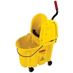 Rubbermaid Commercial 757788YW 35 Qt. Wavebrake® Down Press Combo Mopping System Yellow