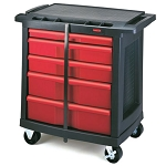 Rubbermaid Commercial 773488 5-Drawer Mobile Work Center Black