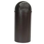 Rubbermaid Commercial 816088BRO 15 Gallon Marshal® Classic Container Brown