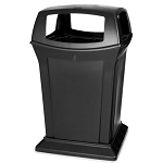 Rubbermaid Commercial 917388BLA 45 Gallon Ranger® Container w/ 4 Openings Black