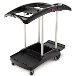 Rubbermaid Commercial 9T92 Triple-Capacity Cleaning Cart Black