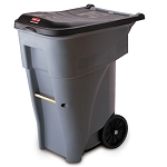 Rubbermaid Commercial 9W21GY 65 Gallon Brute® Rollout Container Gray
