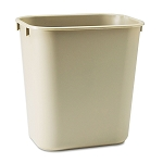 Rubbermaid Commercial 295500BG 14 Qt. Deskside Plastic Wastebasket Beige