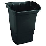 Rubbermaid Commercial 335388BLA 8 Gallon Refuse Bin For 3355-88 3424-88 4091 4093 4094 4095 4096 Utility Carts Black