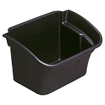 Rubbermaid Commercial 335488BLA 4 Gallon Utility Cart Bin For 3355-88 3424-88 4091 4093 4094 4095 4096 Utility Carts Black