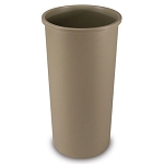 Rubbermaid Commercial 354600BG 22 Gallon Untouchable® Round Container w/out Lid Beige