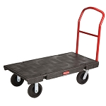 Rubbermaid Commercial 443600BK Heavy-Duty Platform Truck Medium Black
