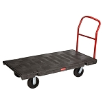 Rubbermaid Commercial 4466BLA Heavy-Duty Platform Truck Large Black