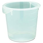 Rubbermaid Commercial 572124CLE 4 Qt. Round Storage Container 8-1/2x7-3/4 Clear