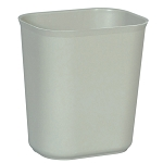 Rubbermaid Commercial 2541GRA 14 Qt. Fire-Resistant Fiberglass Wastebaskets Gray