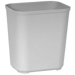 Rubbermaid Commercial 2543GRA 28 Qt. Fire-Resistant Fiberglass Wastebaskets Gray